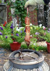 приготовление мяса в тандыре