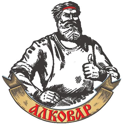 Логотип АЛКОВАР образ винокура
