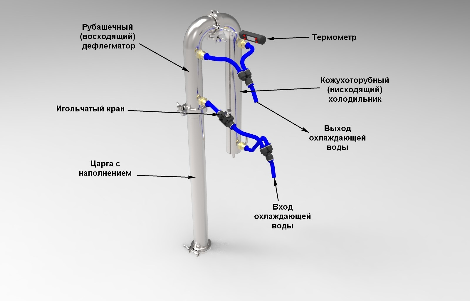 Схема подключения при вторичной- дробной перегонке.