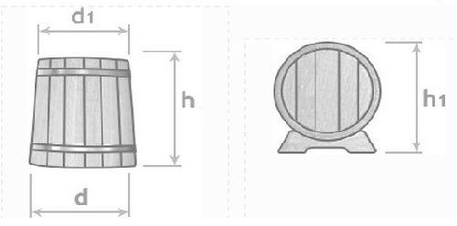 Размеры дубового жбана на 5 литров